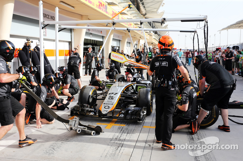 Sahara Force India F1 Team, beim Boxenstopp-Training