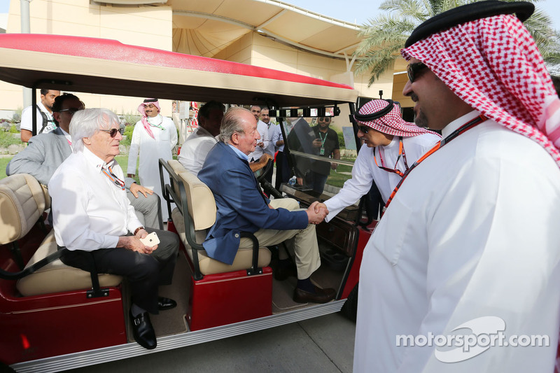 Former Spanish King Juan Carlos and Bernie Ecclestone