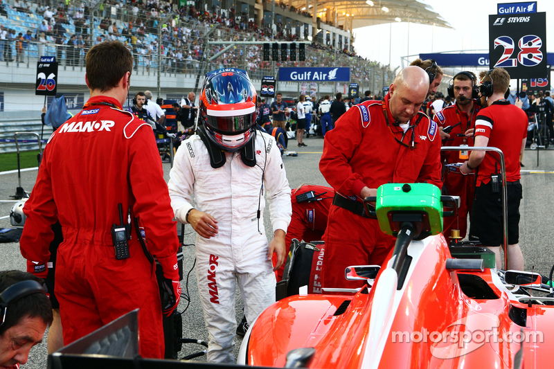 Will Stevens, Manor F1 Team, in der Startaufstellung