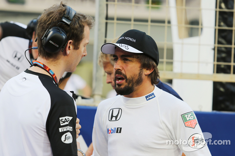 Fernando Alonso, McLaren en la grilla
