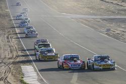 Luis Jose di Palma, Indecar Racing, Torino; Christian Ledesma, Jet Racing, Chevrolet, und Nicolas Bonelli, Bonelli Competicion, Ford