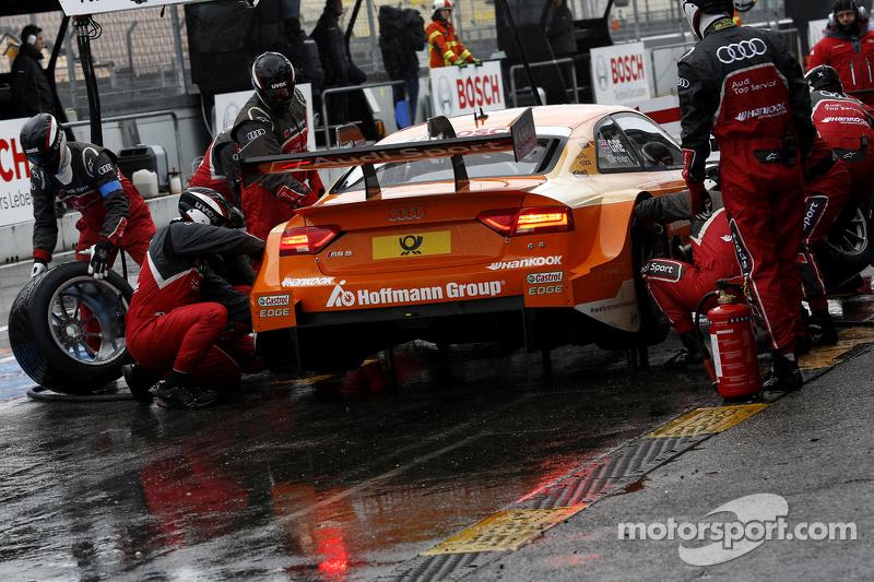 Boxenstopp für Jamie Green, Audi Sport Team Rosberg, Audi RS 5 DTM