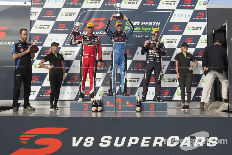 Podium: 2. Fabian Coulthard, 1. Mark Winterbottom, 3. Jamie Whincup