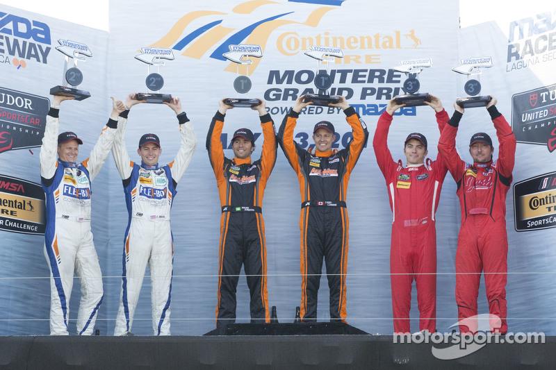 PC подіум: Переможці гонки #11 RSR Racing Oreca FLM09 Chevrolet: Кріс Каммінг, Бруно Джанкейра, друг