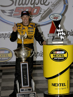 Victory lane: race winner Matt Kenseth celebrates