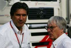 Pasquale Lattuneddu and Bernie Ecclestone