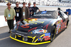 Barenaked Ladies pose with Kevin Harvick's NASCAR Nextel Cup #29 Chevrolet Monte Carlo SS