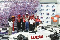 Jay Howard celebrates winning the Indy Pro Series Championship