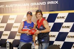 Casey Stoner and Chris Vermeulen back home in Australia