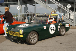 Richard Rzepkowski in his 1971 MG Midget
