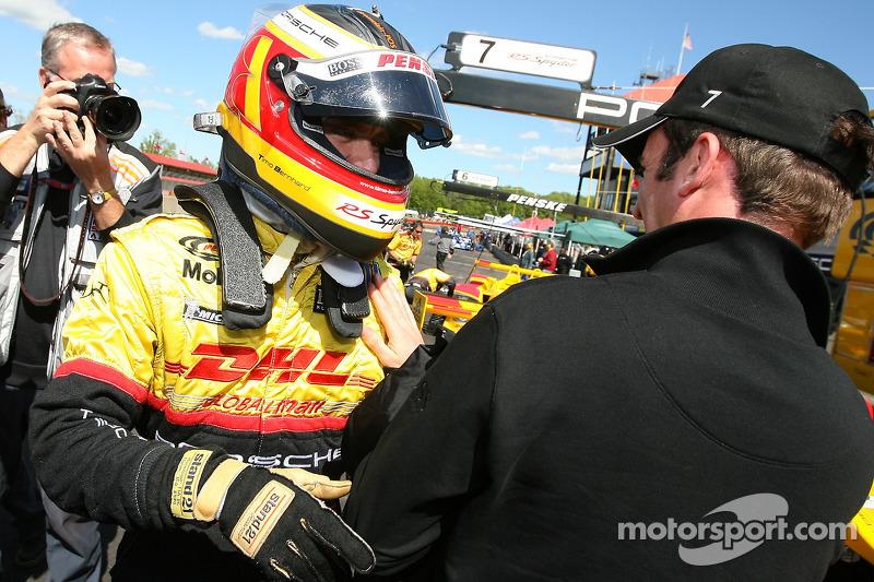 Timo Bernhard en pole position provisoire en P1 avec son coéquipier Romain Dumas