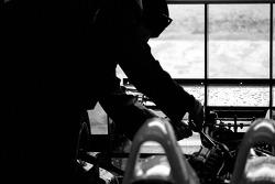 Intersport Racing team member at work