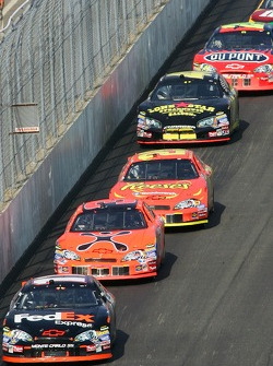 Denny Hamlin leads Jeff Burton