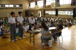 Casey Stoner visits a local school