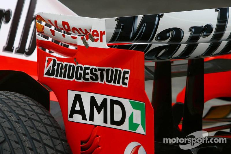 Scuderia Ferrari 248 F1 rear wing endplate