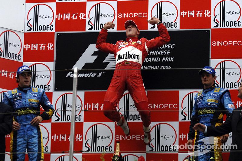 Fernando Alonso, 2º en el GP de China 2006