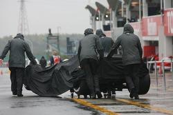 McLaren Mercedes team members at work