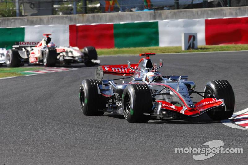 Kimi Raikkonen y Rubens Barrichello