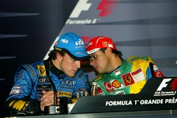 FIA press conference: 2006 F1 World Champion Fernando Alonso and race winner Felipe Massa