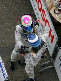 Bruno Spengler and Mika Hakkinen