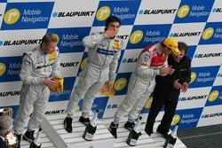 Podium: Mika Hakkinen, Bruno Spengler and Tom Kristensen
