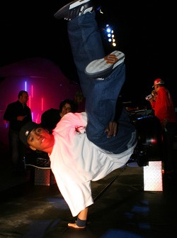 A breakdance performance