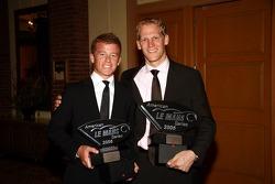 GT2 champion Jorg Bergmeister with Patrick Long