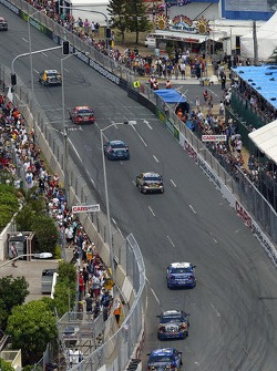 V8 Supercars thunder through the streets of Surfers Paradise