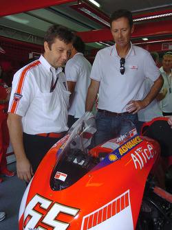 Luna Rossa Challenge skipper Francesco de Angelis visits team Ducati