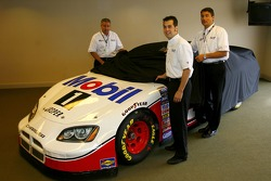 Press conference: Sam Hornish Jr. unveils the Mobil car for Penske racing to compete in the NASCAR Busch Series