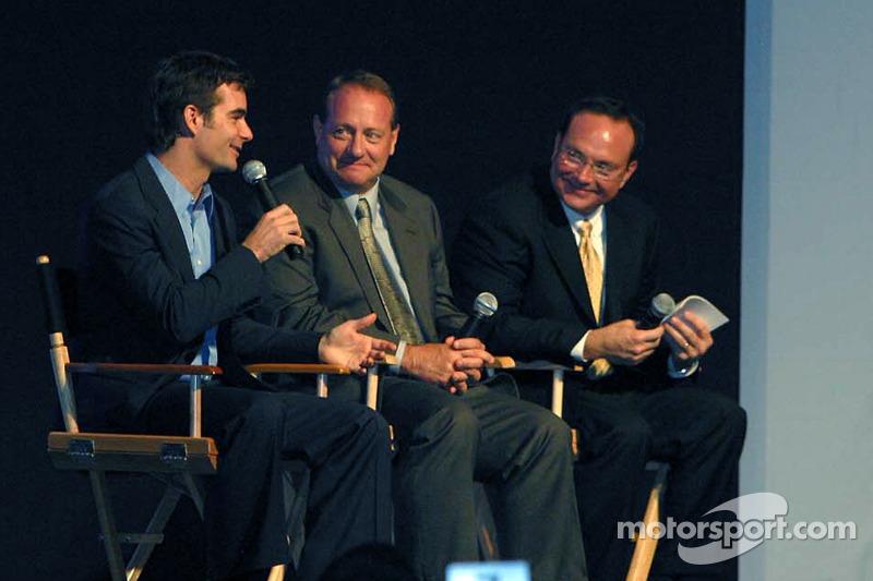 Jeff Gordon, Ken Schrader, Jerry Punch