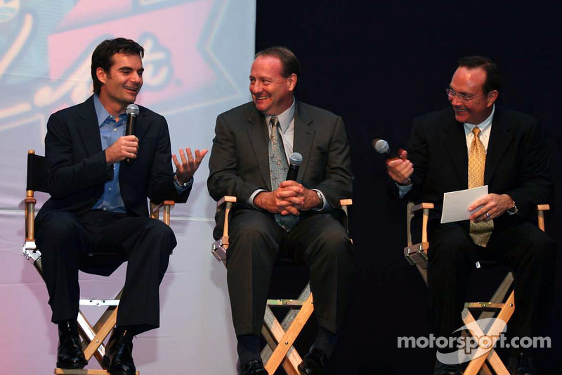 Jeff Gordon, Ken Schrader et Jerry Punch