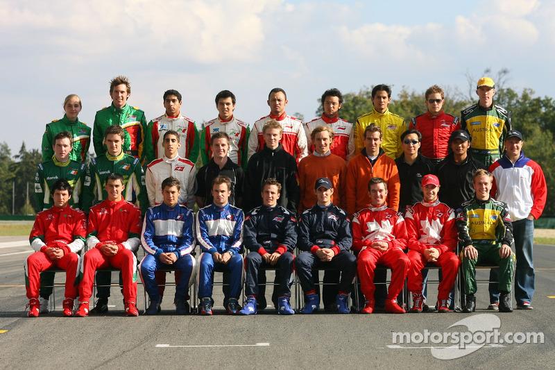 Photo de groupe des pilotes d'A1GP