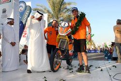 Bike category podium:  winner Marc Coma
