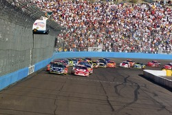 Restart: Jimmie Johnson leads the field