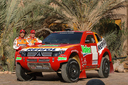 Team Repsol Mitsubishi Ralliart presentation in Morocco: Hiroshi Masuoka and Pascal Maimon