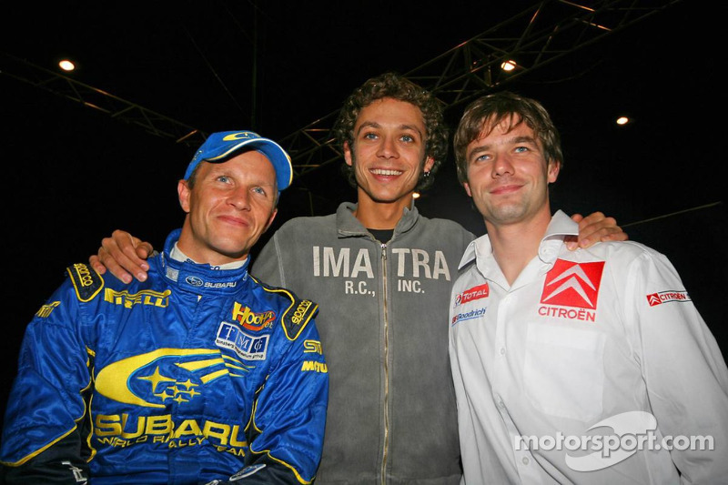 Petter Solberg, Valentino Rossi, Sébastien Loeb