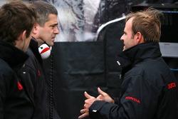 Rubens Barrichello and Jacky Eaklehardt