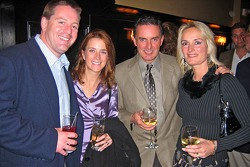 NASCAR Champions in New York: NASCAR Grand National Division, Busch East Series champion Mike Olsen and his wife, Victoria, with NASCAR Whelen Modified Tour champion Mike Stefanik and his wife, Julie