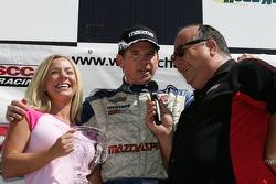 Podium: race winner Randy Pobst