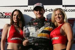 Podium: race winner Andy Pilgrim