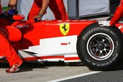 Scuderia Ferrari 248 barge board detail