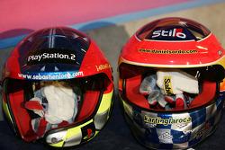 Helmets of Sébastien Loeb and Daniel Sordo