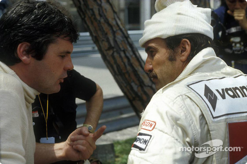 Alan Jones y Clay Regazzoni
