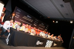 Overall view of the press conference