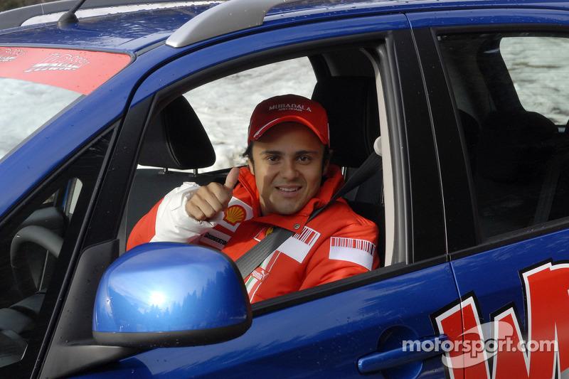 Felipe Massa arrives in Madonna di Campiglio
