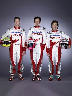 Ralf Schumacher, Franck Montagny and Jarno Trulli
