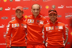 Press conference: Casey Stoner, Claudio Domenicali and Loris Capirossi
