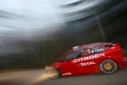 Sébastien Loeb and Daniel Elena test the Citroën C4 WRC
