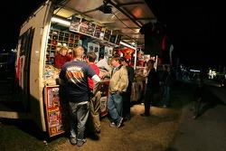 Vendor area at Daytona
